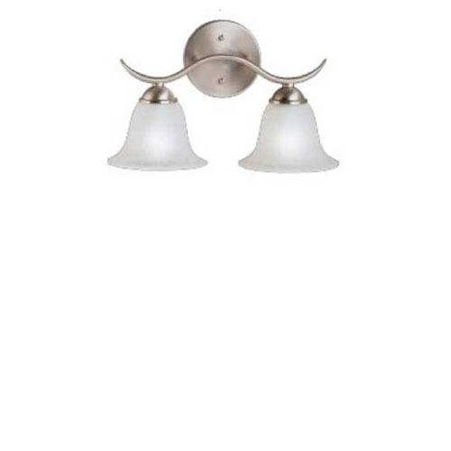 Brushed Nickel Dover 14 5 Wide 2 Bulb Bathroom Lighting Fixture
