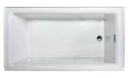 White Vitality 60 Alcove Soaking Bathtub With Self